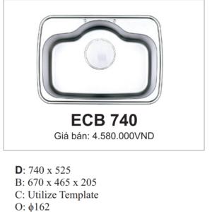 Chậu Rửa Bát Hàn Quốc Ecofa ECB 740
