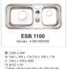 Chậu Rửa Bát Nhập Khẩu Ecofa ESB 1100