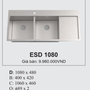Chậu Đúc 2 Hố 1 Bàn Ecofa ESD 1080