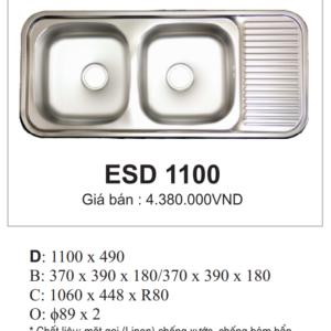 Chậu Rửa Bát Đĩa Nhập Khẩu Hàn Quốc ESD 1100