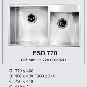 Chậu Rửa Bát Hàn Quốc Ecofa ESD 770