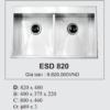Bồn Rửa Chén Bát Hàn Quốc Ecofa ESD 820