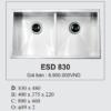 Bồn Rửa INOX Hàn Quốc Ecofa ESD 830