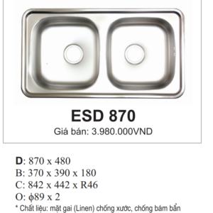 Bồn Rửa INOX Hàn Quốc Ecofa ESD 870