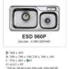 Bồn Rửa Bát INOX Hàn Quốc Ecofa ESD 960P