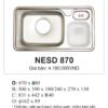 Chậu Rửa bát 3 Hố lệch Hàn Quốc Ecofa NESD 870