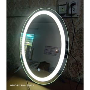 gương bọc da đèn led cảm ứng vela